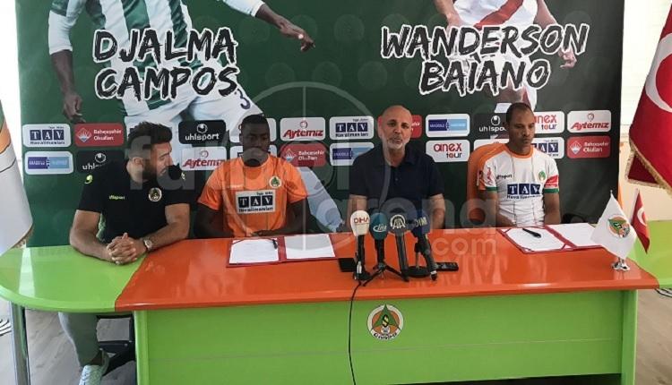 Alanyaspor yeni transferleri Baiano ve Djalma Campos'u basına tanıttı