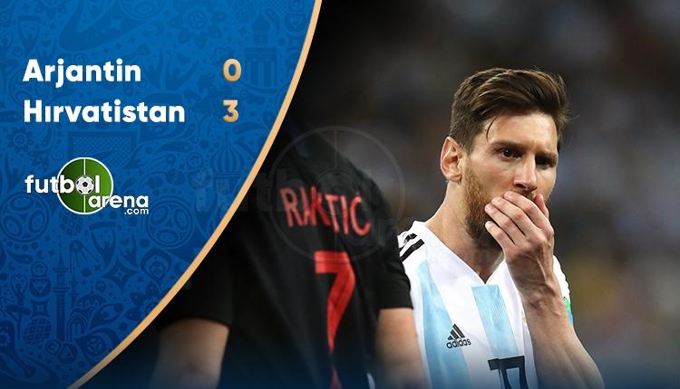 Arjantin 0-3 Hırvatistan maç özeti ve golleri (İZLE)