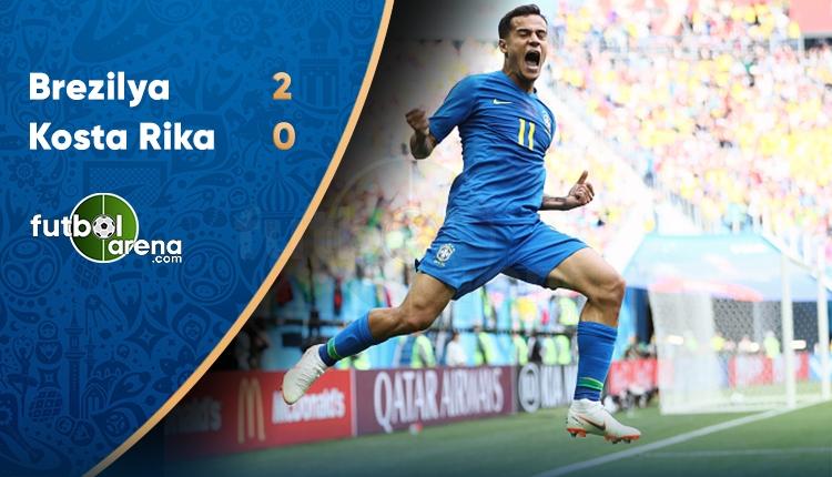 Brezilya 2-0 Kosta Rika maçı özeti ve golü (İZLE)