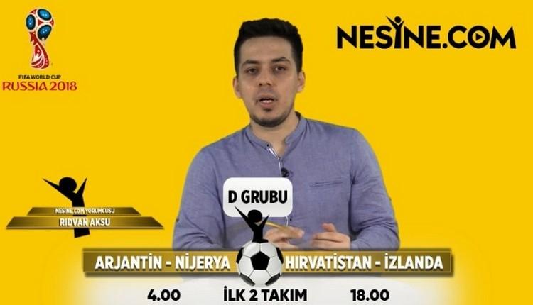 Dünya Kupası D Grubu'nda hangi takım 1. olur?