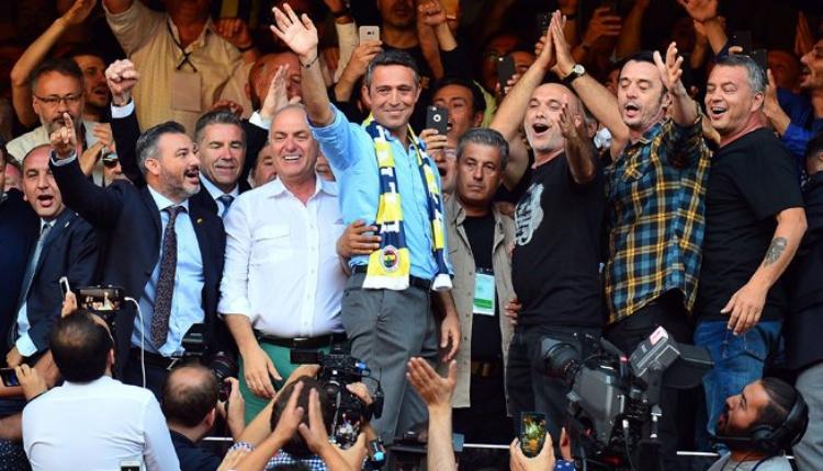 Fenerbahçe'de Ali Koç balkon konuşmasını yaptı