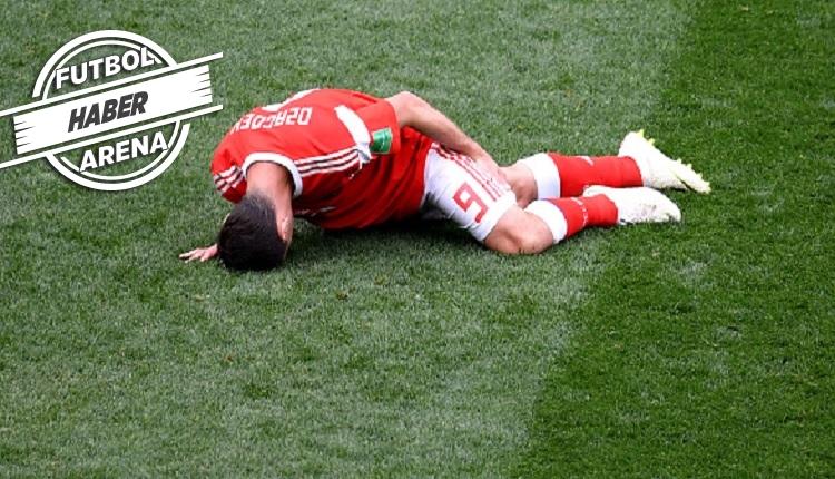 Rusya'da Dzagoev Suudi Arabistan maçında sakatlandı