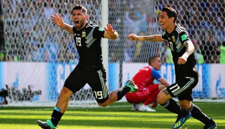 Sergio Aguero'dan Dünya Kupası'nda ilk gol! (İZLE)