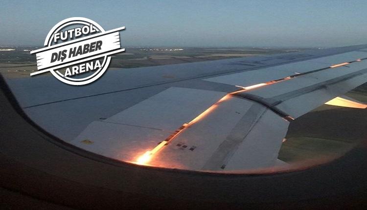 Suudi Arabistan Milli takım uçağı büyük tehlike atlattı