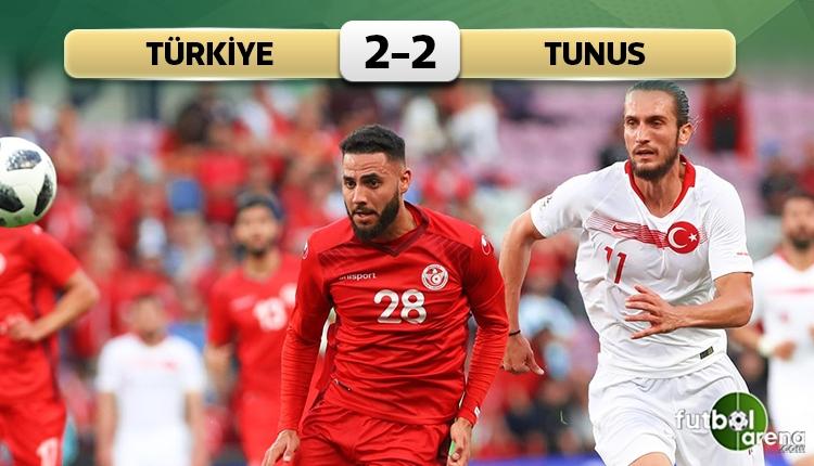 Türkiye 2-2 Tunus maç özeti ve golleri (İZLE)