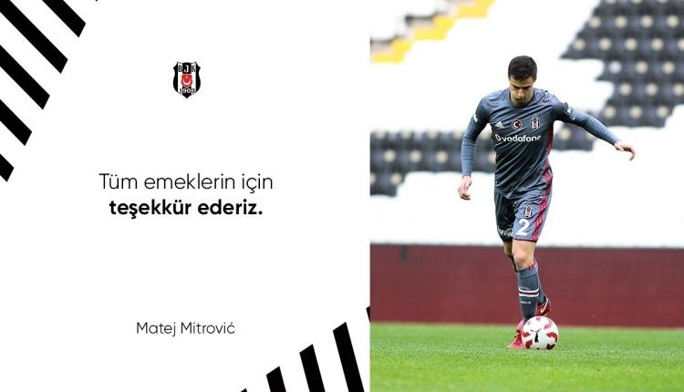 Beşiktaş'tan Matej Mitrovic'e veda paylaşımı