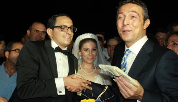 Fenerbahçe Başkanı Ali Koç nikah şahidi oldu