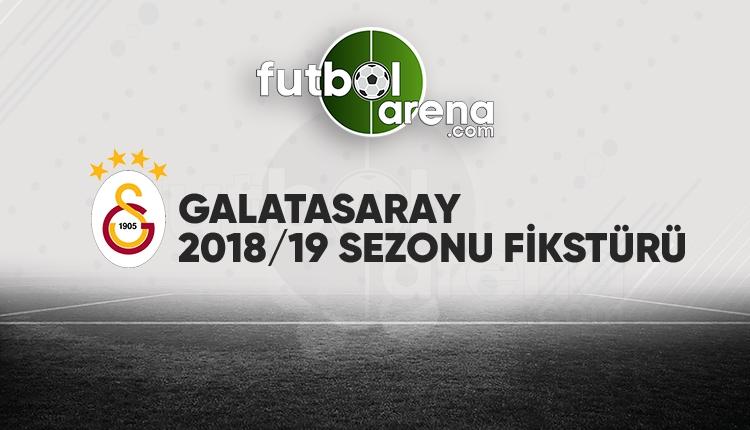 Galatasaray'ın fikstürü açıklandı! (Galatasaray 2018/2019 maçları - GS fikstür)