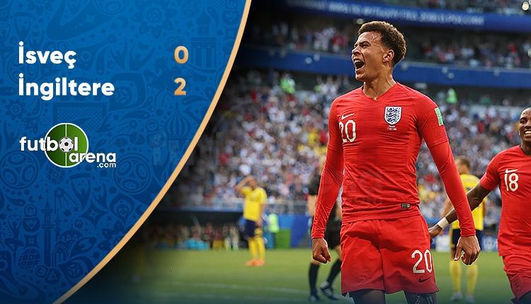 İsveç 0-2 İngiltere maç özeti ve golleri (İZLE)