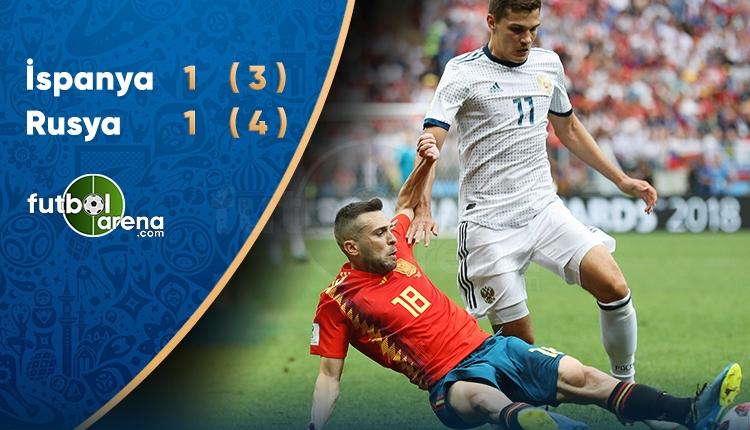 Rusya Çeyrek Final'de! İspanya 3-4 Rusya maç özeti ve golleri (İZLE)