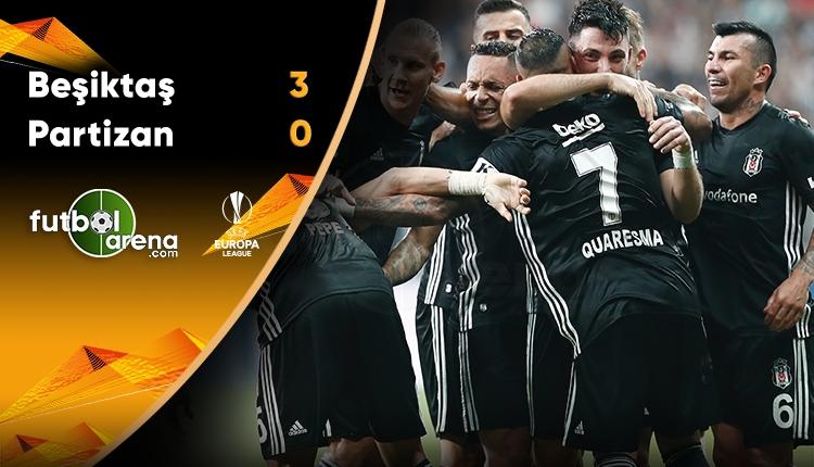Beşiktaş 3-0 Partizan maç özeti ve golleri (İZLE)