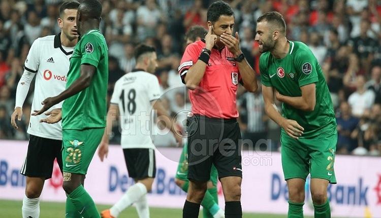 Beşiktaş - Akhisar maçında penaltı itirazı! VAR devrede