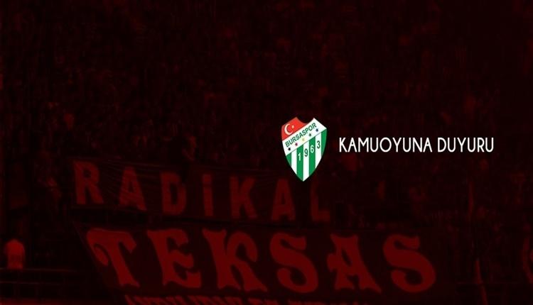 Bursaspor'dan 'Ali Koç'lu' sert açıklama!