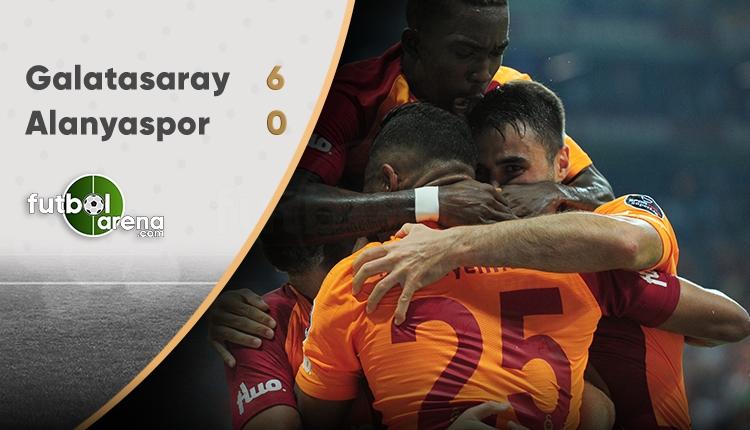 Galatasaray 6 - 0 Alanyaspor maçın özeti ve golleri (İZLE)