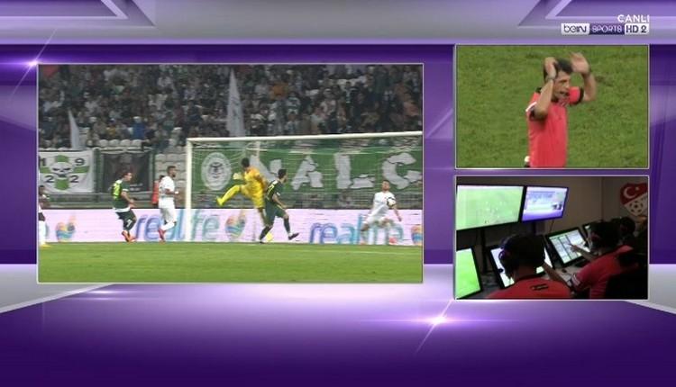 Konyaspor - Bursaspor maçında VAR tartışması