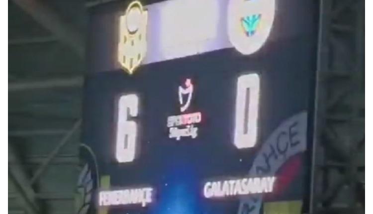 Malatya'da olay! Skorbord Fenerbahçe 6-0 Galatasaray gösterdi