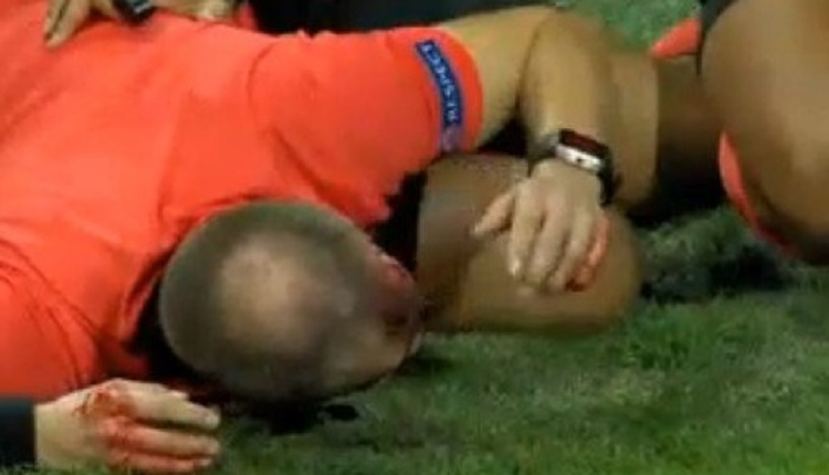 Sturm Graz - AEK Larnaca maçında kan aktı