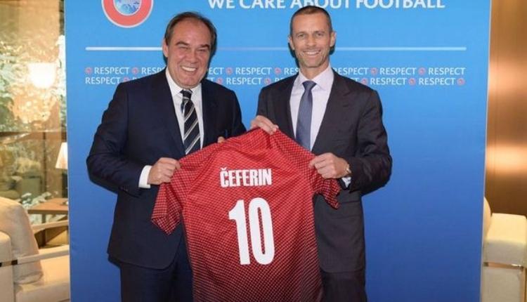 TFF'den UEFA Başkanı Caferin'e destek