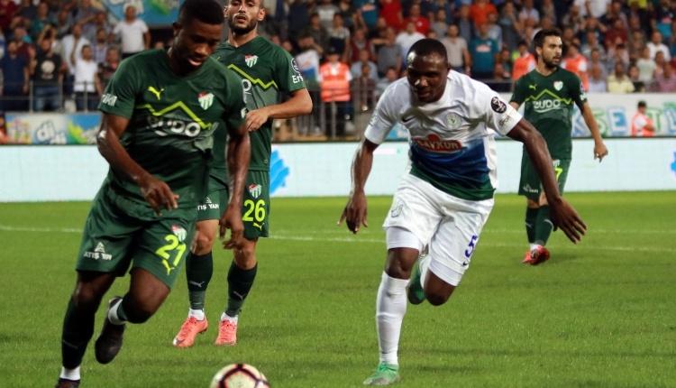 Çaykur Rizespor 1-1 Bursaspor maç özeti ve golleri (İZLE)