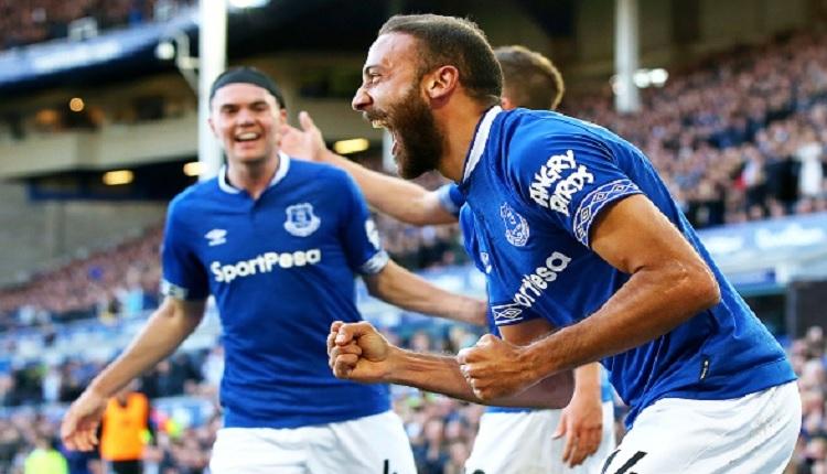 Cenk Tosun Everton - Fulham maçında attığı gollü İZLE