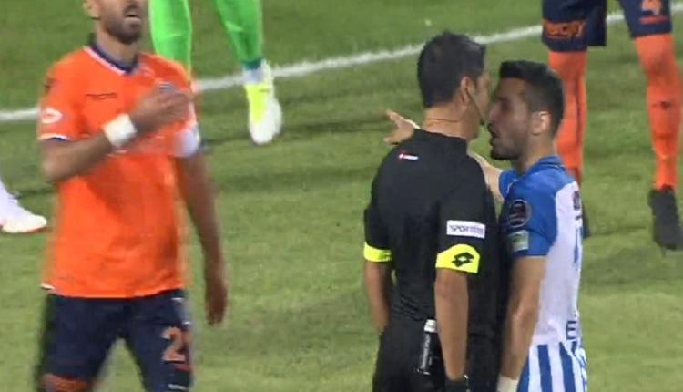 Emrah Başsan Erzurumspor - Başakşehir maçında hakemle burun buruna geldi