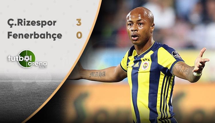 Fenerbahçe'ye bir darbe de Çaykur Rizespor'dan!