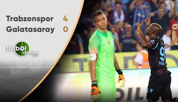 Galatasaray'a Trabzon'da soğuk duş! Trabzonspor 4-0 Galatasaray