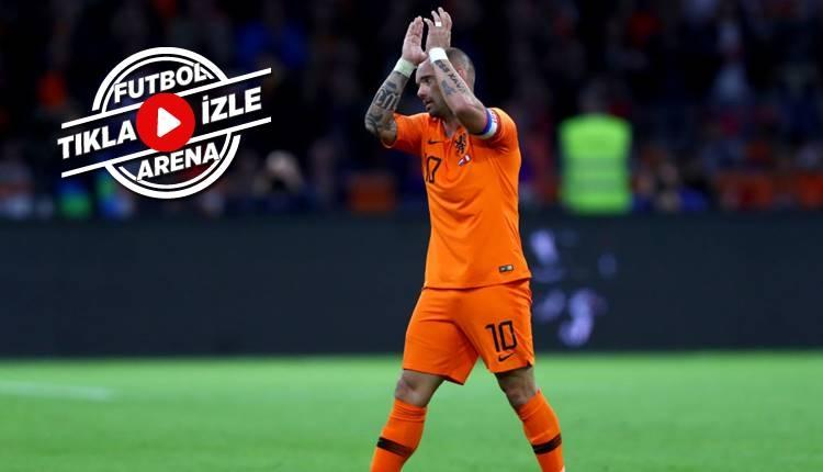 Hollanda 2-1 Peru maçı özeti ve golleri (Sneijder'in jübilesi İZLE)