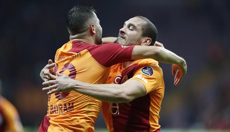 Maicon'dan ilk gol Ömer Bayram'dan ilk asist