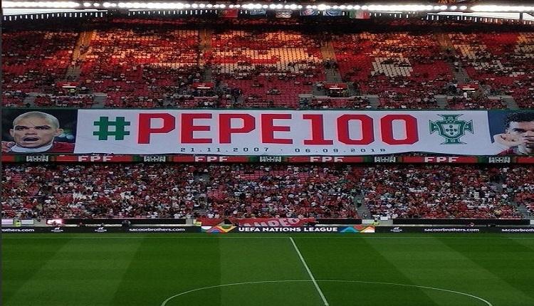 Pepe'ye Portekiz Milli Takımı'nda 100. maç için plaket