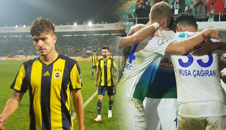 Rizesporlu Vedat Muriqi Fenerbahçe maçında ilki yaşadı