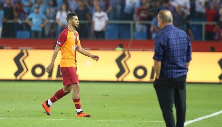Trabzonspor - Galatasaray maçı sonrası Belhanda'ya protesto