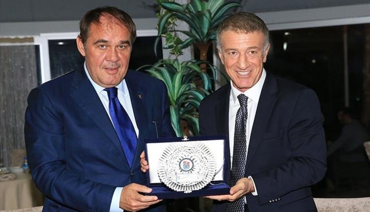 Yıldırım Demirören ve Mehmet Baykan, Trabzonspor'u zirayet etti