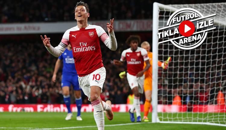 Arsenal 3-1 Leicester City maçı özeti ve golleri (İZLE)