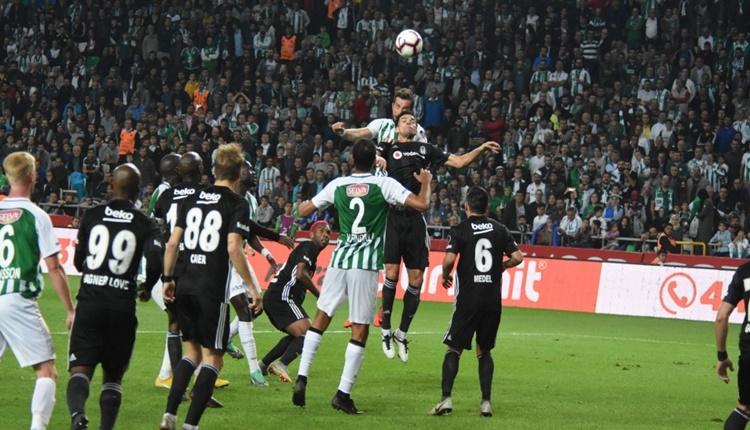 Atiker Konyaspor 2-2 Beşiktaş maçın özeti ve golleri