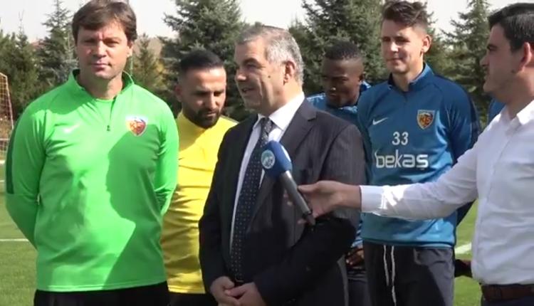 Başkan Mustafa Çelik'ten Kayserispor'a ziyaret