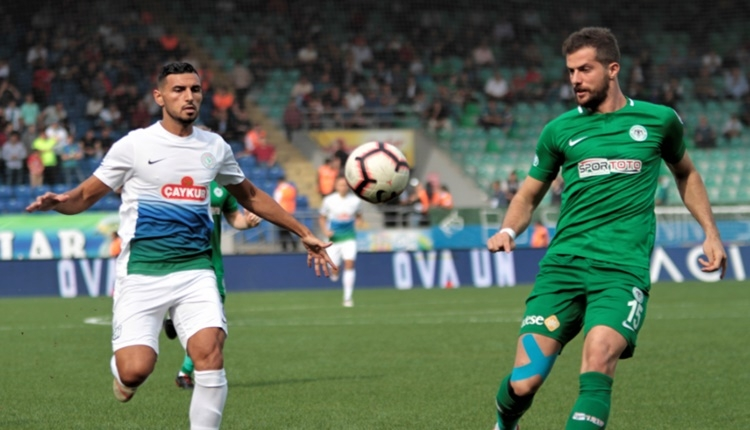 Çaykur Rizespor 1 - 1 Atiker Konyaspor maçın özeti ve goller