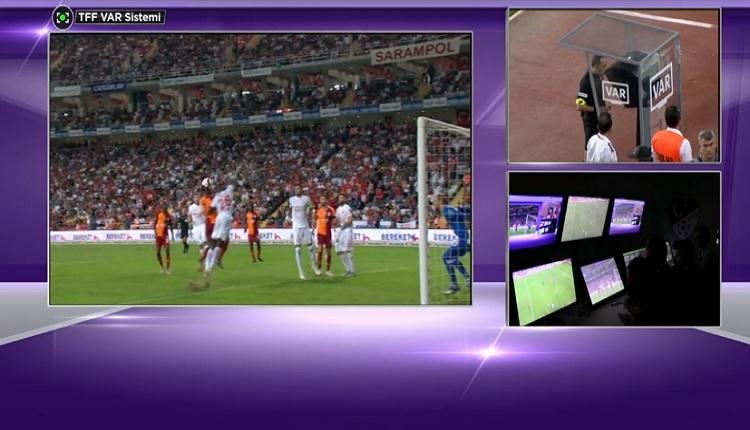 Cüneyt Çakır Galatasaray'ın penaltı kararını iptal etti