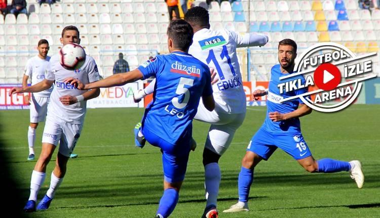 Erzurumspor 1-1 Kasımpaşa maçı özeti ve golleri (İZLE)