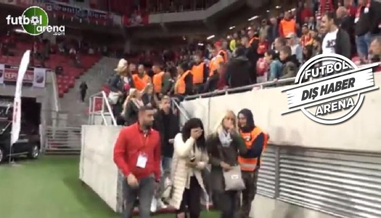 Fenerbahçe'nin rakibi Spartak Trnava'nın taraftarından rezalet