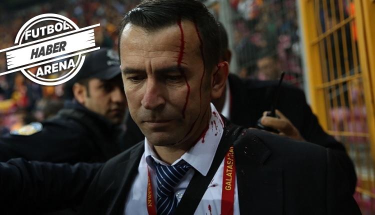 Galatasaray - Bursaspor maçında saha görevlisi yaralandı