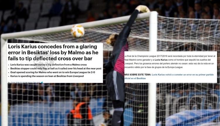 Karius'un Malmö maçında yediği gol Avrupa basınında