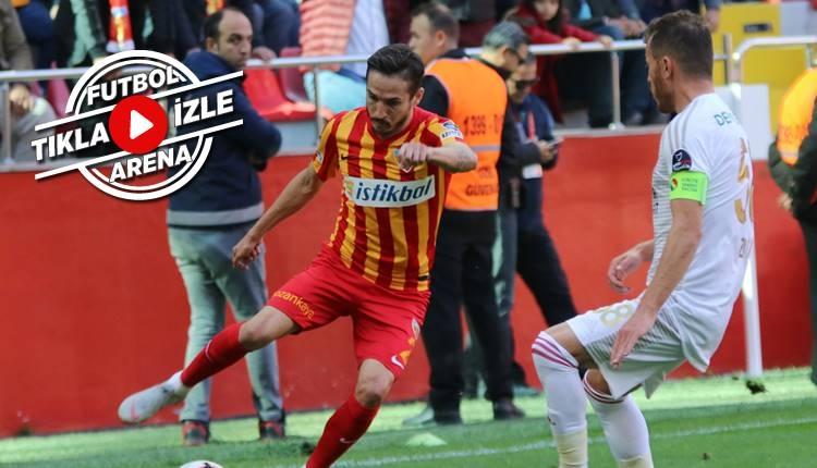 Kayserispor 2-0 Sivasspor maçı özeti ve golleri (İZLE)