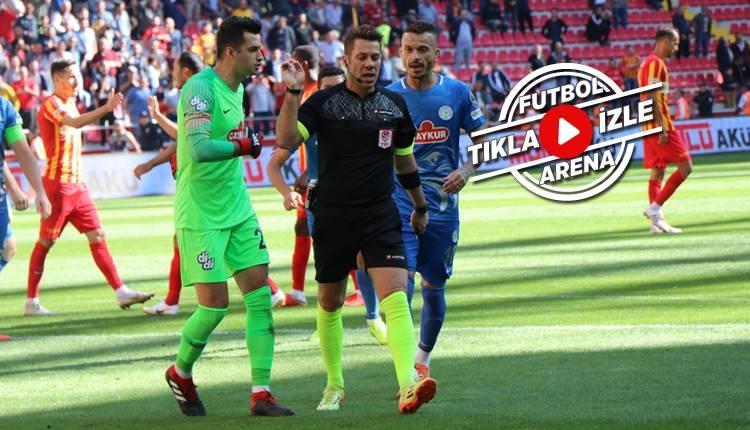Kayserispor 2-2 Rizespor maçı özeti ve golleri (İZLE)