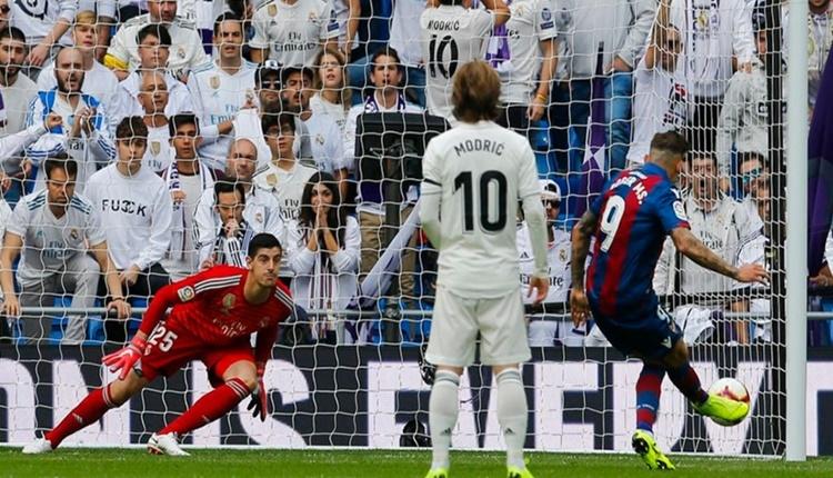 Real Madrid 1-2 Levante maçın özeti ve golleri