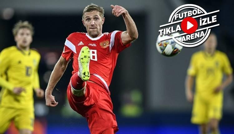 Rusya 0-0 İsveç maçı özeti (İZLE) Milli Takım grubu puan durumu