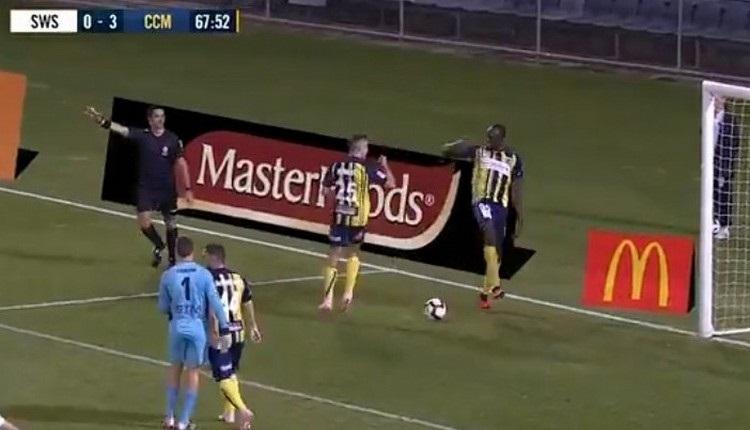 Usain Bolt çıktığı ilk maçta 2 gol attı İZLE