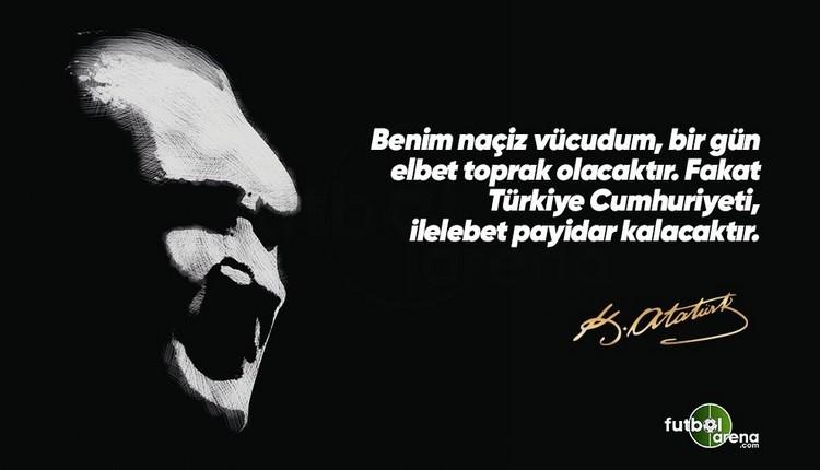 10 Kasım Atatürk paylaşımları, futbolculardan Atatürk mesajları, spor camiasından 10 Kasım Atatürk paylaşımları