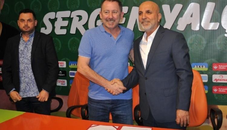 Alanyaspor'da Sergen Yalçın Fenerbahçe maçında tribünde olacak