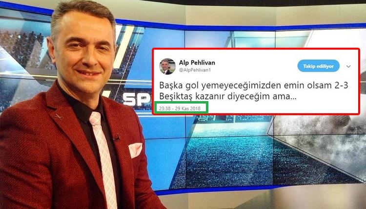 Alp Pehlivan, Beşiktaş maçının skorunu doğru tahmin etti